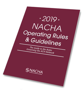 slanted 2019 NACHA Rules cover